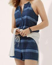 Ann Taylor LOFT Cotton Lou & Grey Baja Romper Sizes Small, Medium Jazz Blue NWT