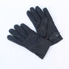 German Army Luftwaffe Black Leather Gloves Lined TG1165