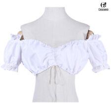 Renaissance Chemise Off Shoulder Bodice Dress-up Costume Pirate Blouse Shirt Top