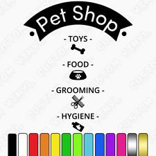 Pet Shop Window sign, Shop Fenêtre Autocollant Signe Graphique, toiletteurs, Porte/Mur Signe