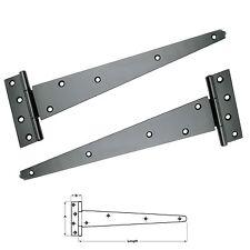 Tee Hinges Shed Door Garden Gate Stable doors Black (Pair)