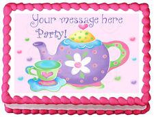 TEAPOT Tea Party Cake design Image Edible Cake topper decoration