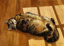 """GINGER"" TABBY CAT MATTED MINI CAT ART PRINT - BY DREW STROUBLE - CATAMNDREW"