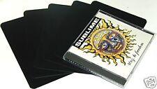 "(800) CDNS68NBK30 Black Narrow CD Divider Cards Heavy Duty 4.88"" x 6.75"" 30 Mil"