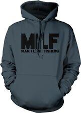 MILF Man I Love Fishing Fisherman Humor Funny Joke Pun Boat Lake Hoodie Pullover