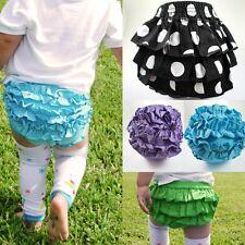 Sweet Cute Baby Girls Pettiskirt Ruffle Panties Briefs Bloomer Diaper Cover XS-L