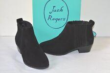 New $148 Jack Rogers Liddy Suede Black Waterproof Short/Ankle Boots/Booties