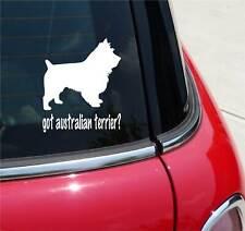 GOT AUSTRALIAN TERRIER? TERRIER GRAPHIC DECAL STICKER ART CAR WALL