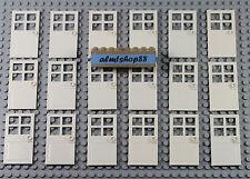 LEGO - 1x4x6 White Door Leaves w/ 4 Panes & Stud Handle Lot 60623 Leaf Bulk