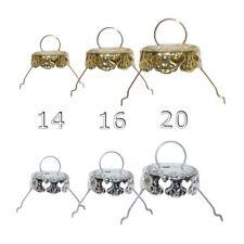 10 Hütchen, Kronen gold / silber für Christbaumkugeln