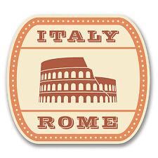 2 X 10cm ITALIA ROMA Adesivo Vinile Decalcomania Viaggi Bagagli Etichetta Italiana Auto Divertente # 6382