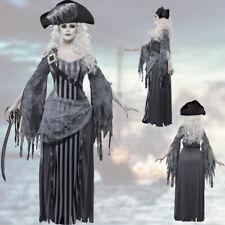 zombie-piratin Costume fantômes femme corsaire pirate Halloween vêtement