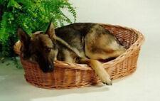 Hundekorb Katzenkorb Weide mit Kissen braun Ruhekorb für Hunde Katzen Tierkorb