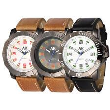 AK Night Vision Leather Strap Band Men's Sport Army Military Quartz Wrist Watch