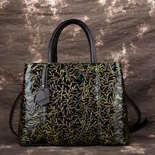 Women's Bag Genuine Leather Vintage Handbags Shoulder High capacity Embossed