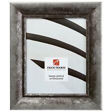 "Craig Frames Verandah, 2"" Aged Silver & Black Picture Frame, Panoramic Sizes"