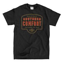 Southern Comfort Whiskey Logo Black T-Shirt - Ships Fast! High Quality!