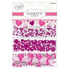 Corazones Rosa & Pastel Mr & Mrs Boda Confeti de mesa decoración 1-5pk