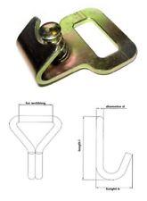Flachhaken für 25 mm Gurtband mit Sicherung Endbeschlag 1-100 Stück (934931)
