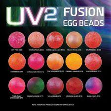 Uv2 Fusion Egg beads Spirit River ø6mm 50 PZ 8 colori fluorescenti uv2 Egg