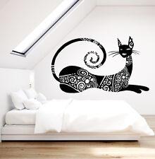 Vinyl Wall Decal Abstract Sphynx Cat Art Decor Fashion Pet Tattoo Sticker 1827ig