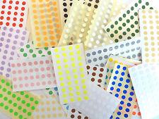 6mm Point Rond Stickers en Couleur Cercles Petit Circulaire