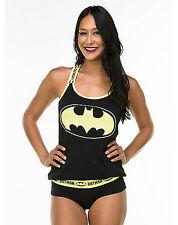 DC Comics BATMAN PAJAMA SET Justice League TANK PANTY PAJAMAS Batgirl SIZE Large