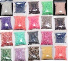 12g (2000 un.) Mayorista Cuentas de Cristal Acrílico Half Round Flatback artesanías 17 Colores