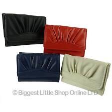 Nouveau cuir synthétique pu filles adolescents compact trois volets sac à main/portefeuille handy cadeau