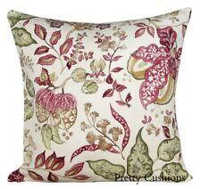 Sanderson Madagascar Pemberley Linen & Damson Cushion Cover