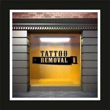 Tattoo Removal Shop Window Laser Saw Sticker Sign Studio Decal Salon Modern