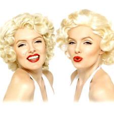 Marilyn Monroe Wigs Ladies Fancy Dress Celebrity Diva 50s Costume Accessory New