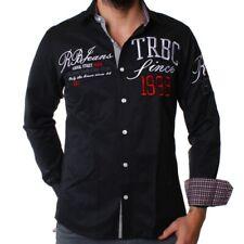 Redbridge by Cipo & Baxx Herren Party Hemd BRAVE schwarz R-2132 Slimfit S M L XL