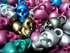 Metálico Colores Calavera Pirata bolas de plástico Colgantes