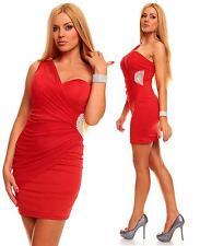 Da Donna Rosso Decorato Sexy da Sera Avvolgere Mini Dress Size 10 12