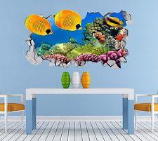 3D Ocean Coral 52 Muro Murales Adesivi Decalcomania svolta AJ Carta da parati UK lemom