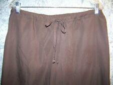 Brown scrub pants nurse dental medical uniform  Cherokee 4101 flare leg low rise
