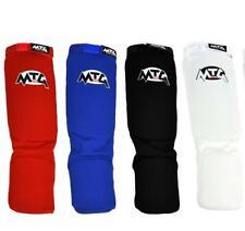 MTG Pro Elastic Shin Guards Muay Thai Shin Pads MMA Shin Instep Guards S M L XL