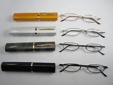 PEN Tube reading Glasses Metal case Spring Temple + Free Cloth $3.00 CVST9924RCV