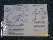 1965 FORD GALAXIE LTD CUSTOM 500 TRUNK JACK DECAL