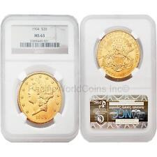 USA 1904 LIBERTY $20 Gold NGC MS63