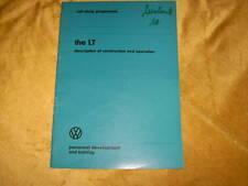 SSP VW LT Description of construction + operation 1975