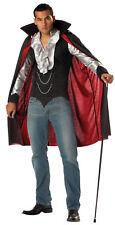 Cool Vampire Men Adult Costume Shirt & Cape Fancy Dress California Costumes
