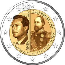"""2 € Luxembourg 2017 """"200th Anniversary Guillermo III"""" UNC Pre-Sale"""
