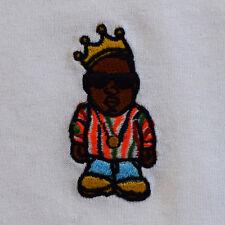 Biggie Coogi Cartoon Character Embroidered Black & White Tee T-Shirt