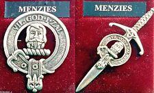 Menzies Scottish Clan Crest Pewter Badge or Kilt Pin