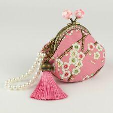 Handmade Japanese Sakura Cherry Blossom Oriental Coin Purse Collectable #0142