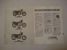 advertising Pubblicità 1976 MOTO KAWASAKI Z 400/Z 750/Z 900