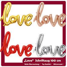 Luftballon Schrift 100 cm Love Buchstaben Helium Liebe Rose Silber Hochzeit mit
