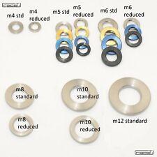 Titanium Washer Ti M4 M5 M6 M8 M10 M12 DIN 125 and Reduced OD Blue Black Gold